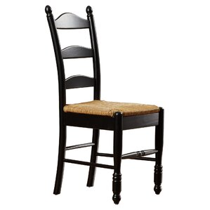 Gennevilliers Ladder Back Solid Wood Dining Chair (Set of 2) by Lark Manor