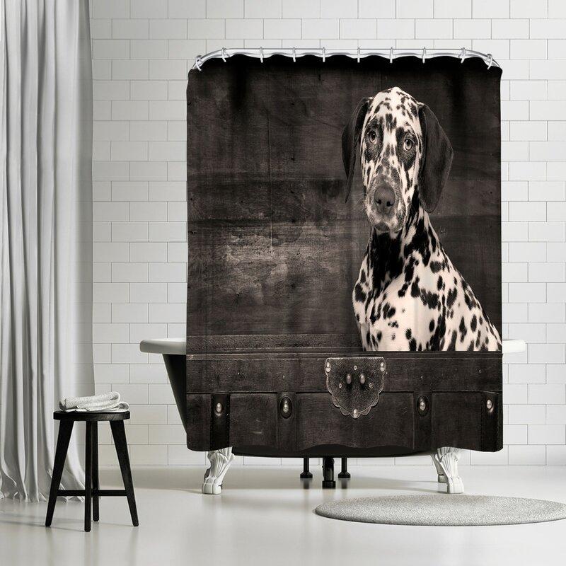 Maja Hrnjak Dalmatian Dog Puppy Shower Curtain