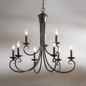 Calafia 9-Light Candle-Style Chandelier