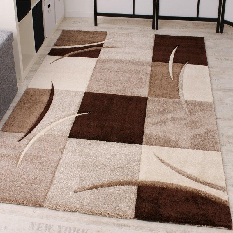 Longweave Teppich Cassius In Braun Creme Grau Bewertungen Wayfair De