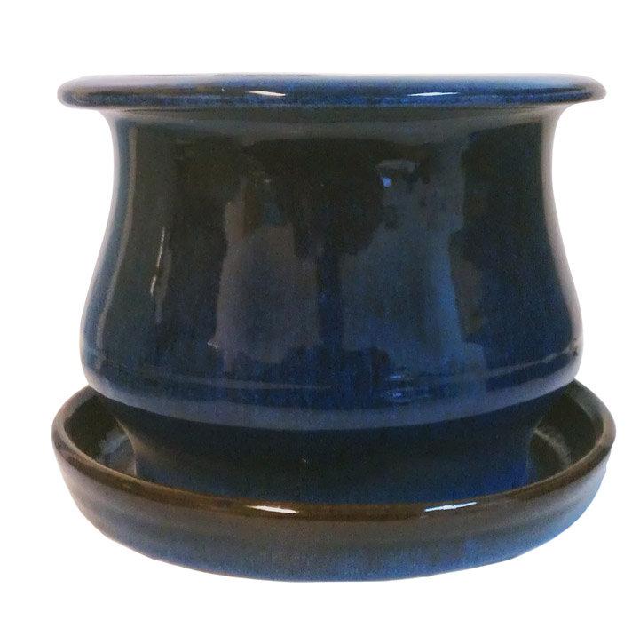 Newell Low Bell Glazed Ceramic Pot Planter