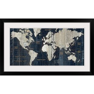 Frameable World Map.Framed Maps Wall Art You Ll Love Wayfair