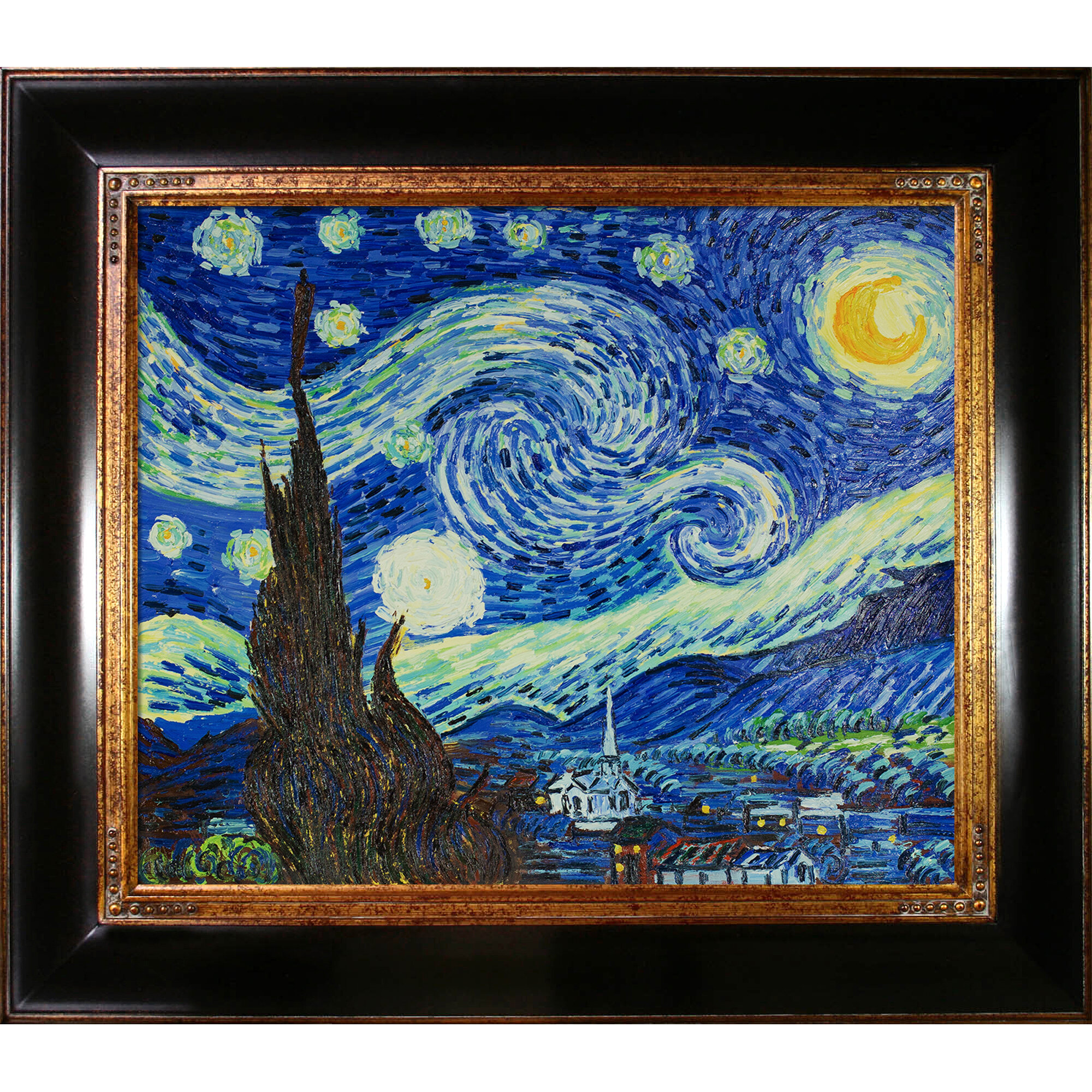 Wildon Home ® Starry Night by Vincent Van Gogh Framed Painting | Wayfair