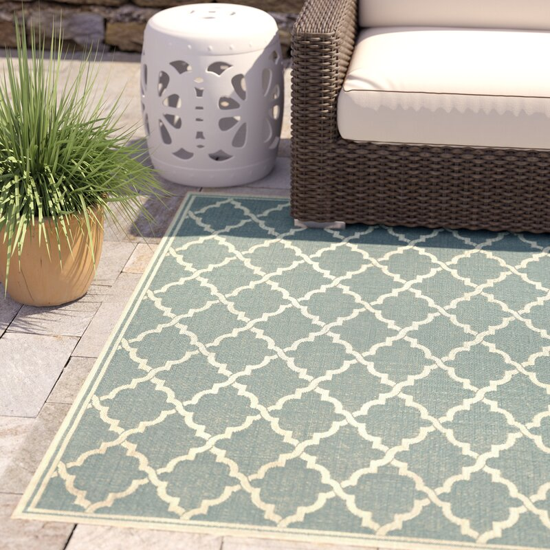 Crigler Ocean Port Light Turquoise Indoor/Outdoor Area Rug & Reviews ...