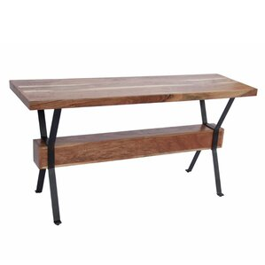 Levy Elegant Wood And Iron Console Table