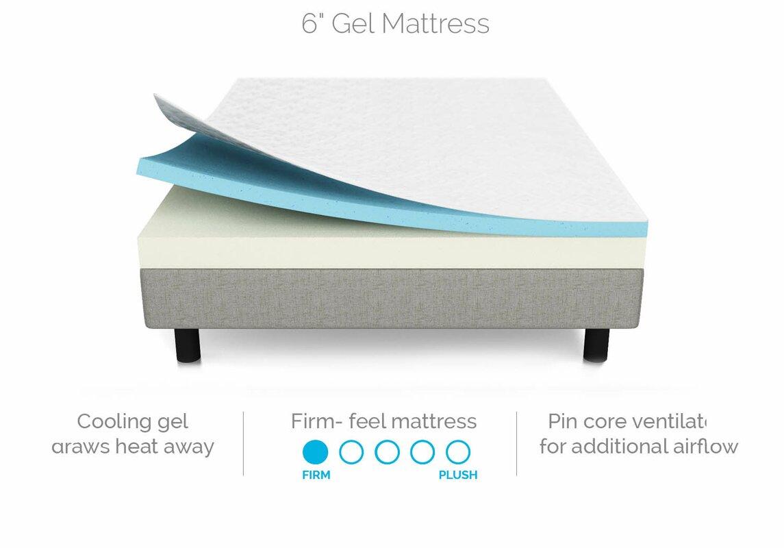6 firm memory foam mattress reviews birch lane. Black Bedroom Furniture Sets. Home Design Ideas