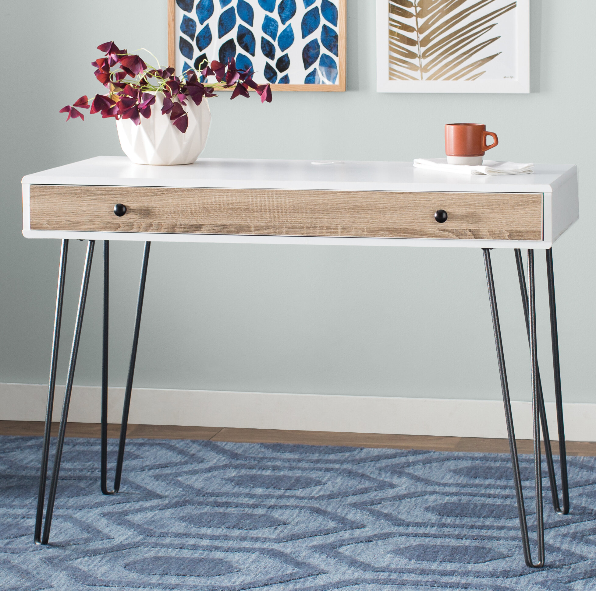 Merveilleux Mercury Row Bronstein Writing Desk U0026 Reviews | Wayfair