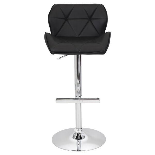 Orren Ellis Aceves Adjustable Height Swivel Bar Stool