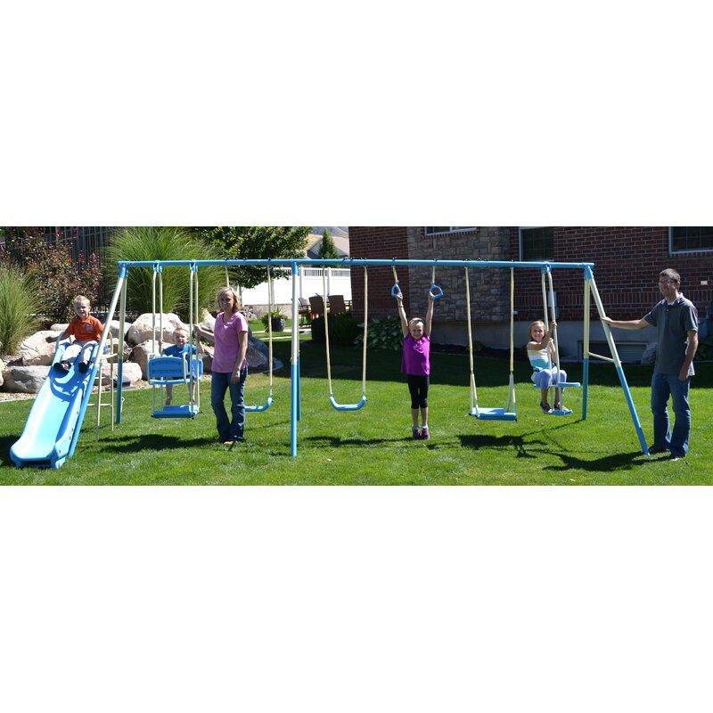 Propel Trampolines Swing Pro 9 Play Swing Set Reviews Wayfair