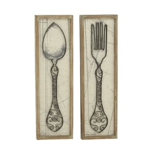 Superior 2 Piece Spoon and Fork Wall Du00e9cor Set (Set of 2)