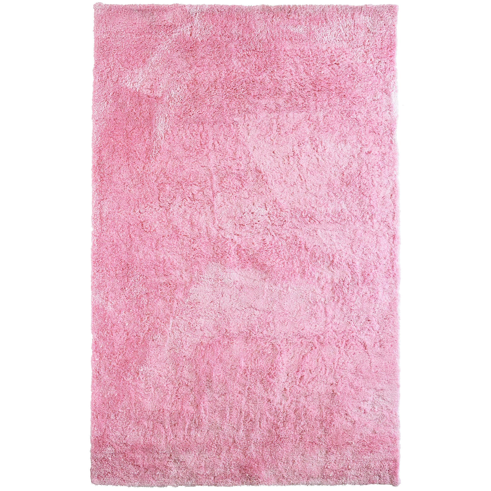 Rug Studio Fur Shag Pink Area Rug