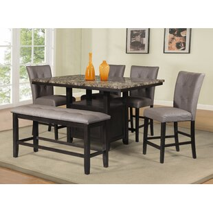 Counter Height 6 Piece Dining Set Best #1