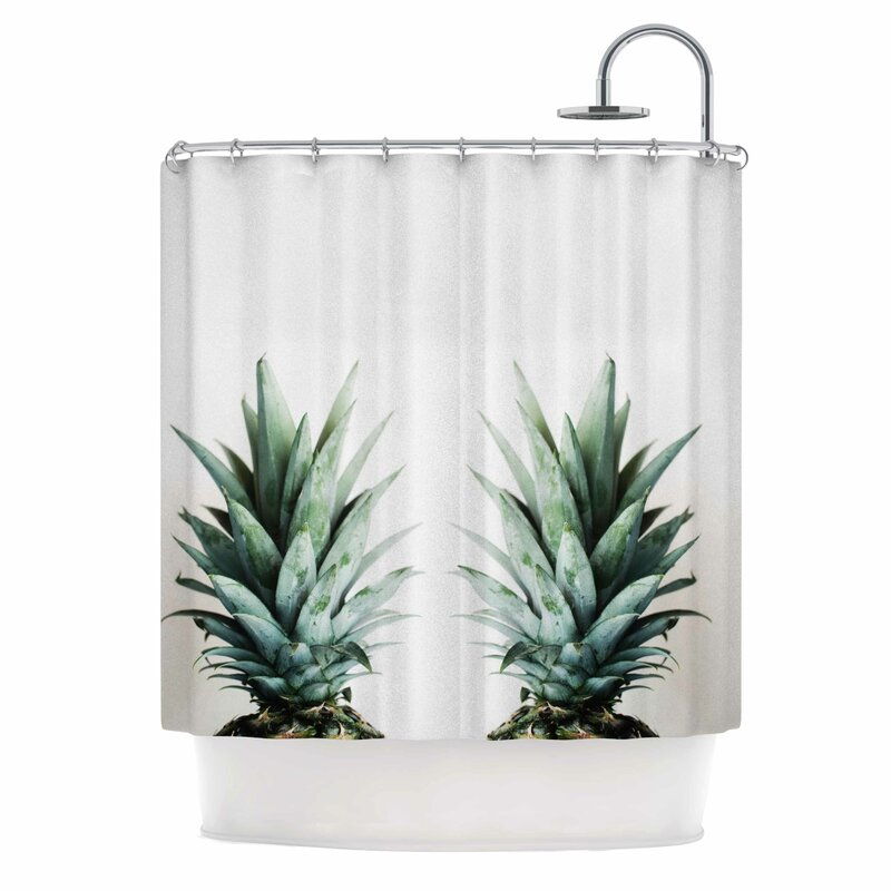 Two Pineapples Shower Curtain
