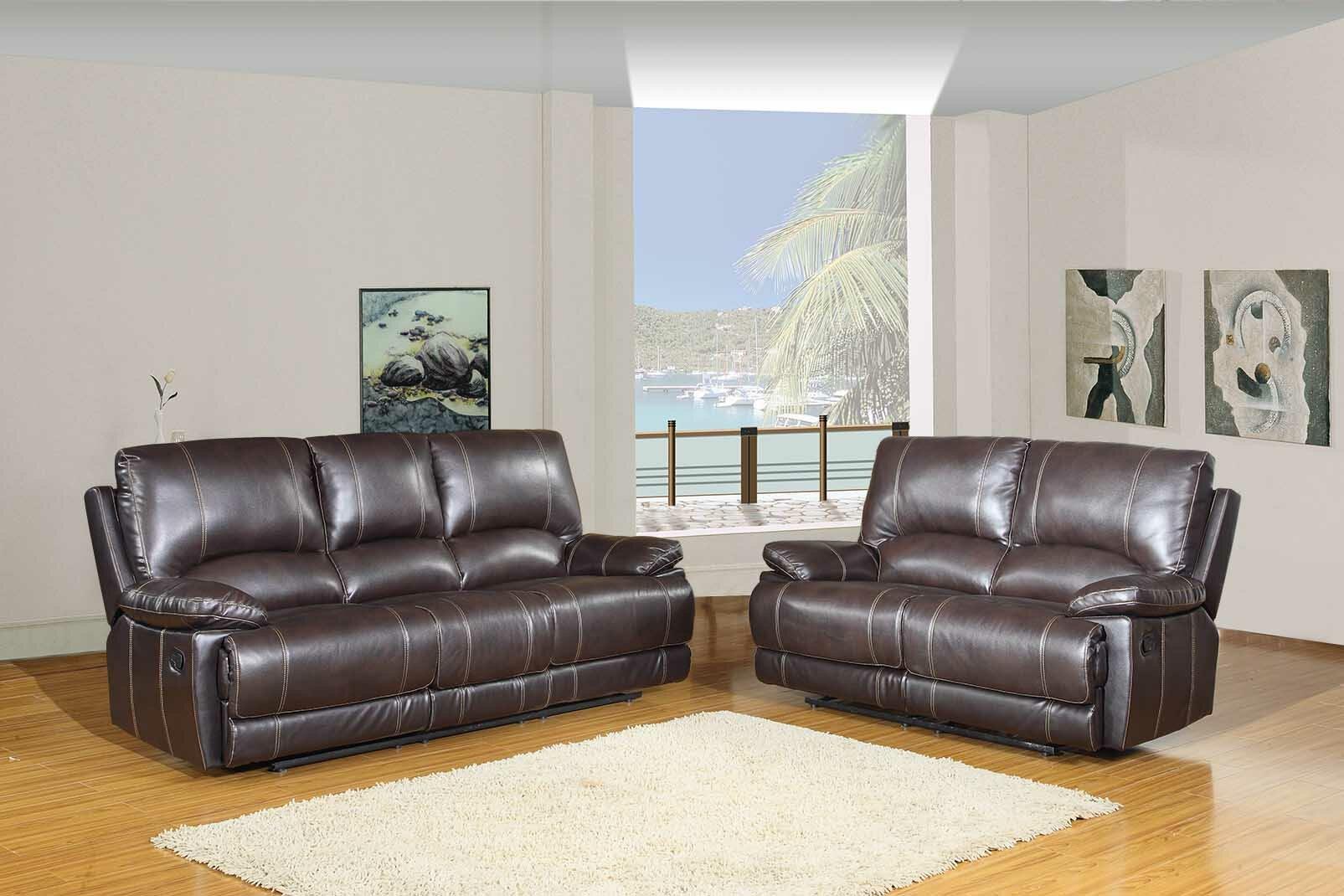 Red barrel studio trower reclining 2 piece living room set wayfair