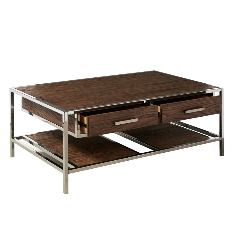 Brayden Studio Falkner Modern Industrial Style Coffee Table with