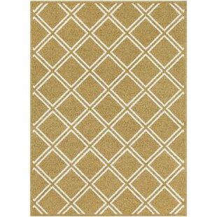 Branchville Modern Geometric Wool Tan/White Area Rug ByCharlton Home