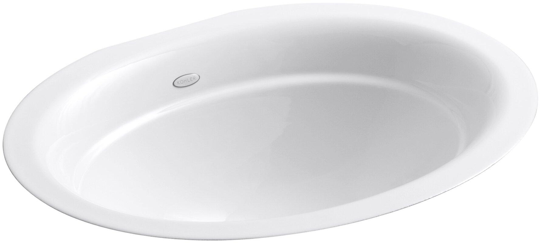 Lovely Serif Metal Oval Undermount Bathroom Sink