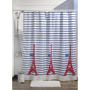 Paris Je Taime Printed Fabric Shower Curtain