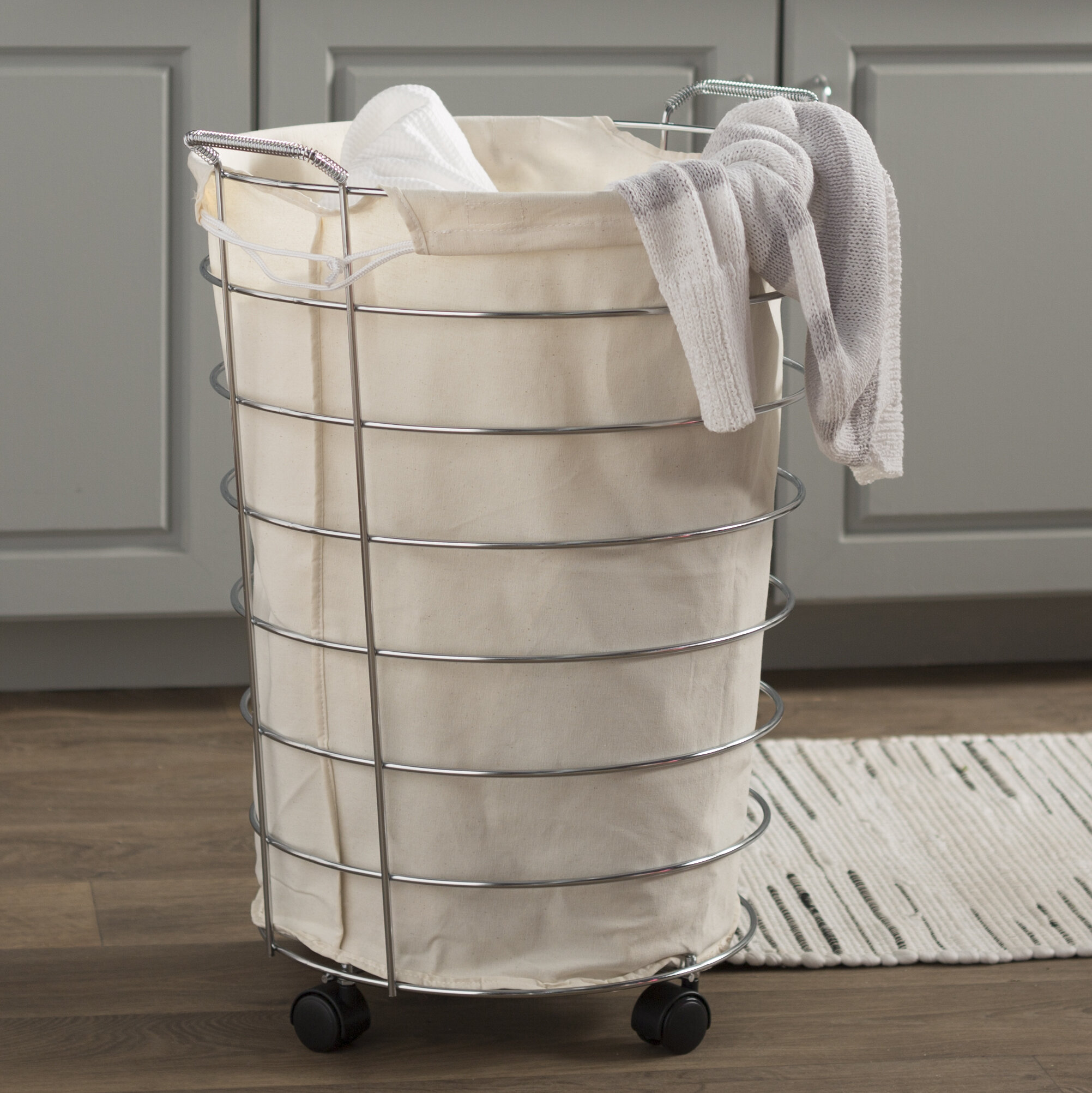 57a752ae9e50 Wayfair Basics Rolling Laundry Hamper   Reviews