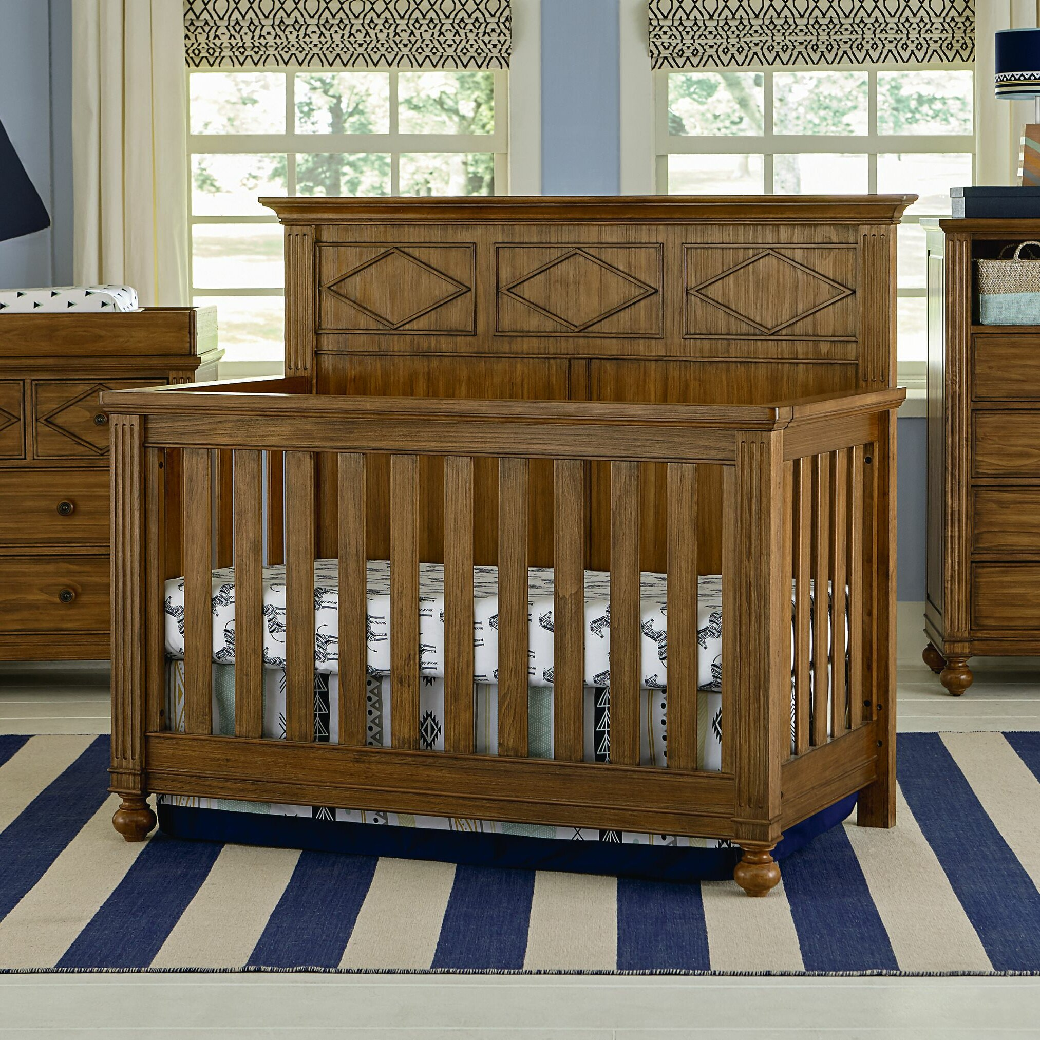 bassett baby brookdale 4 in 1 convertible crib wayfair