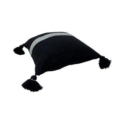 Mistana Juno Pom Pom Pillows Color: Silver on Black
