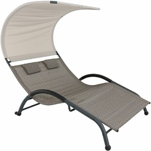Double Patio Chaise Lounge Chairs Youu0027ll Love | Wayfair