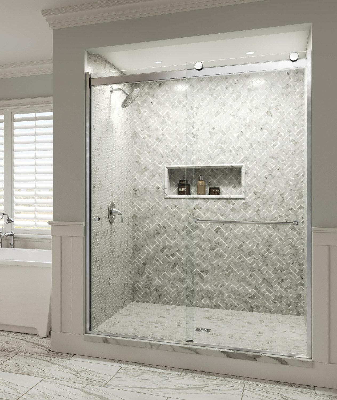 Basco Rotolo 59 X 76 Bypass Frameless Shower Door Wayfair