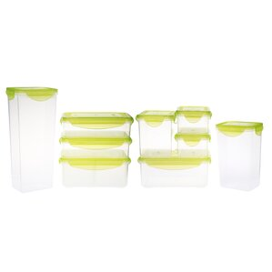 Kinetic Fresh Plastic 9 Container Food Storage Set