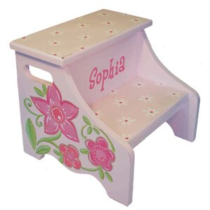 Flower Personalized Step Stool by Renditions by Reesa