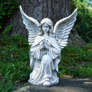 Kneeling Praying Angel Religious Outdoor Garden Statue