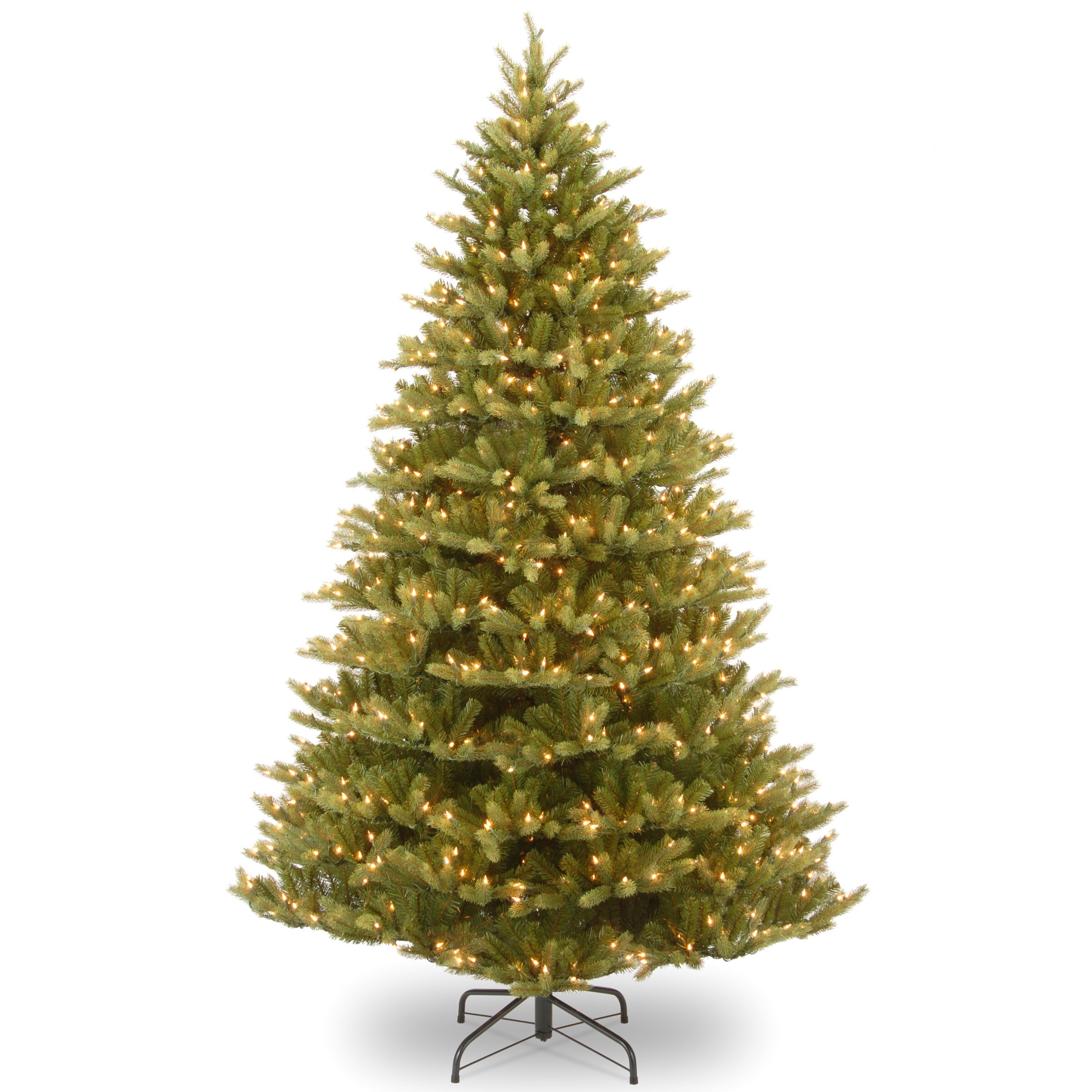 national tree co normandy fir 75 green artificial christmas tree with 1000 pre lit clear lights with stand reviews wayfair - 75 Pre Lit Christmas Tree