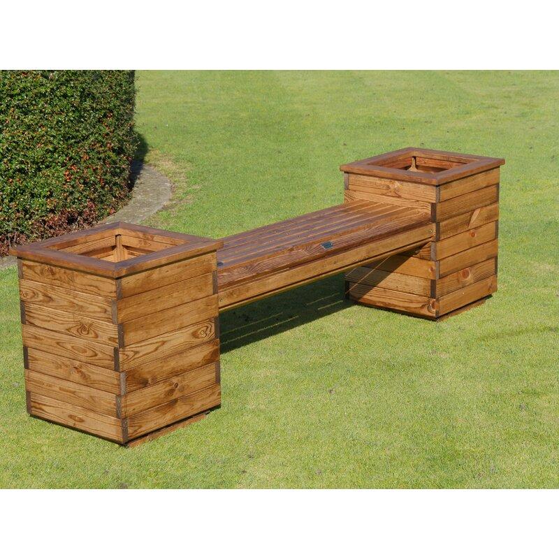 Lynton Garden Acel Wooden Planter Bench Reviews Wayfair Co Uk