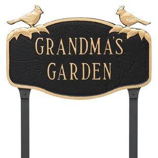 Cardinal Garden Sign