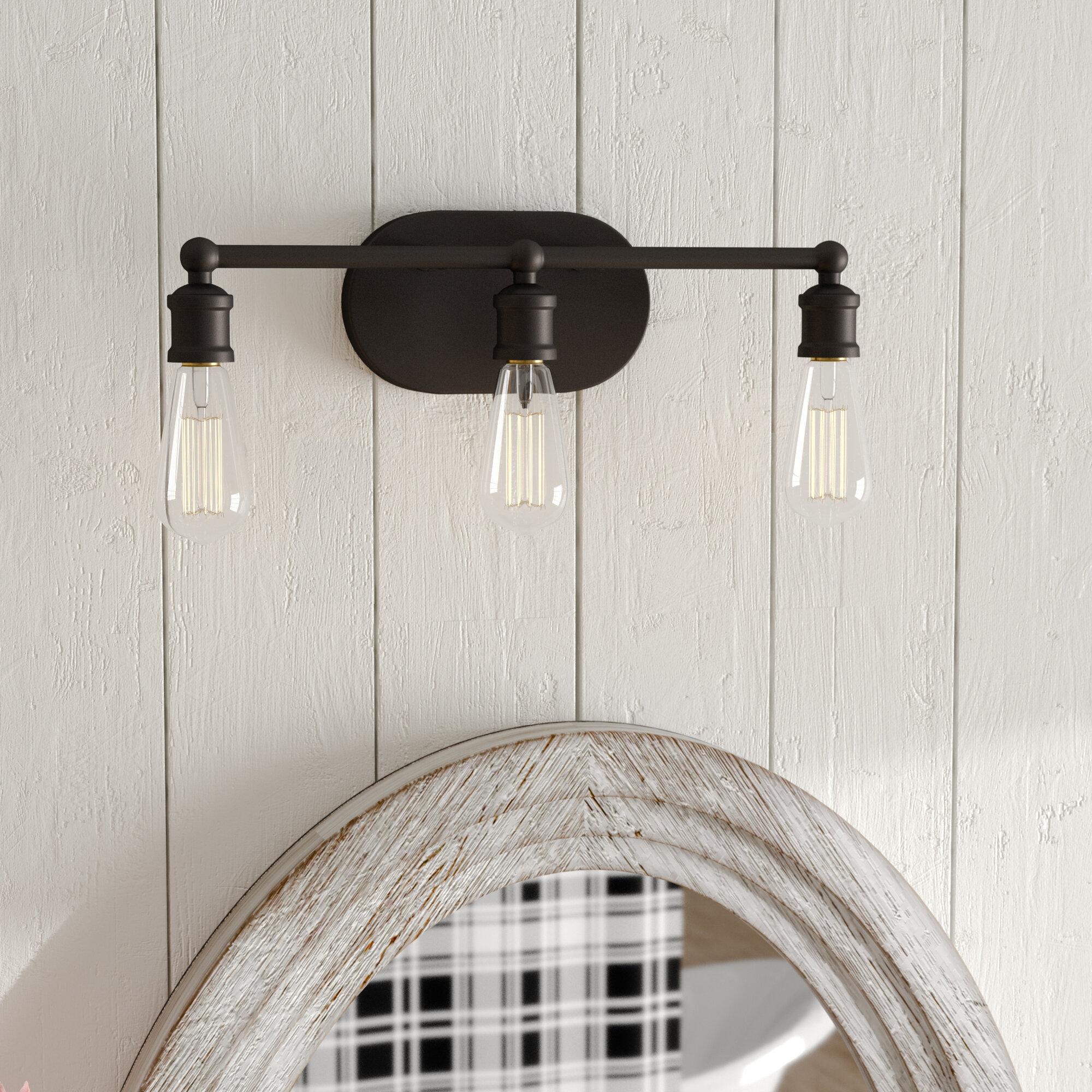Laurel foundry modern farmhouse agave 3 light vanity light fixture reviews wayfair