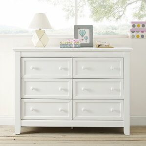 Banks 6 Drawer Double Dresser by Harriet Bee