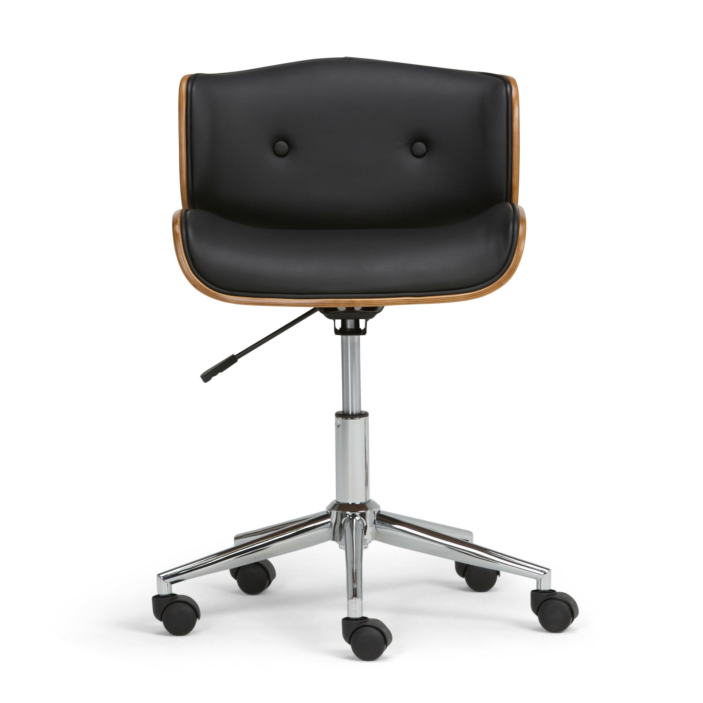 Low Back Desk Chair Dirk Modern Armless Low Back Office