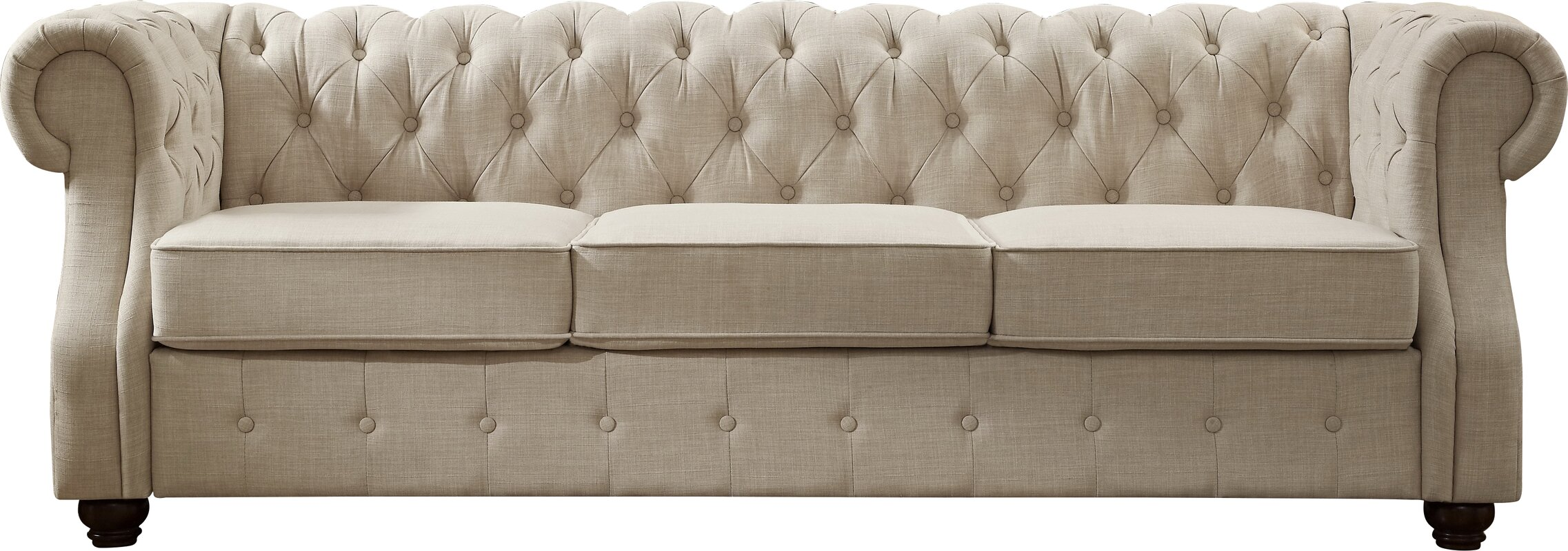 Attractive Evart Tufted Chesterfield Sofa
