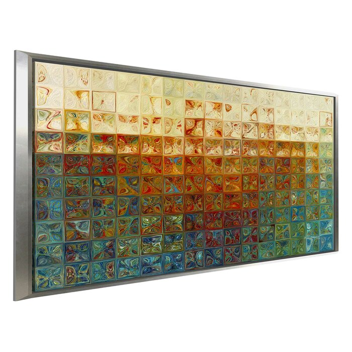 Tile Wall Art 2 2017 Framed Graphic Print On Canvas