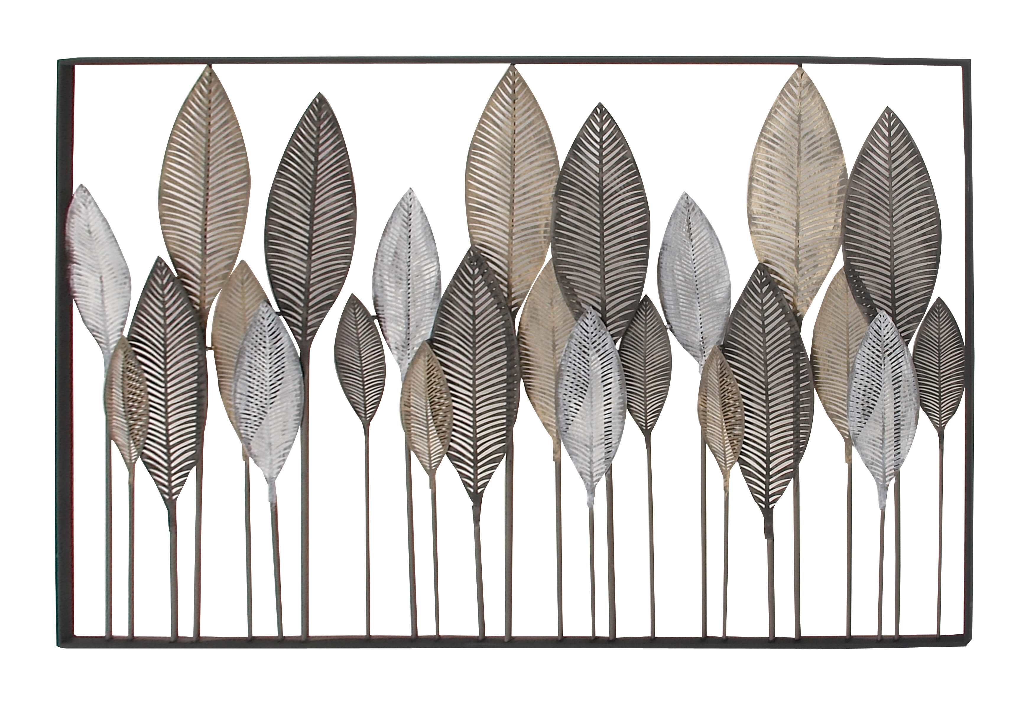 metal image decor prix of dalle leaf art pics wall