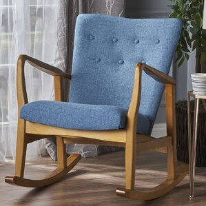 Brayden Studio Saulter Fabric Rocking Chair Image