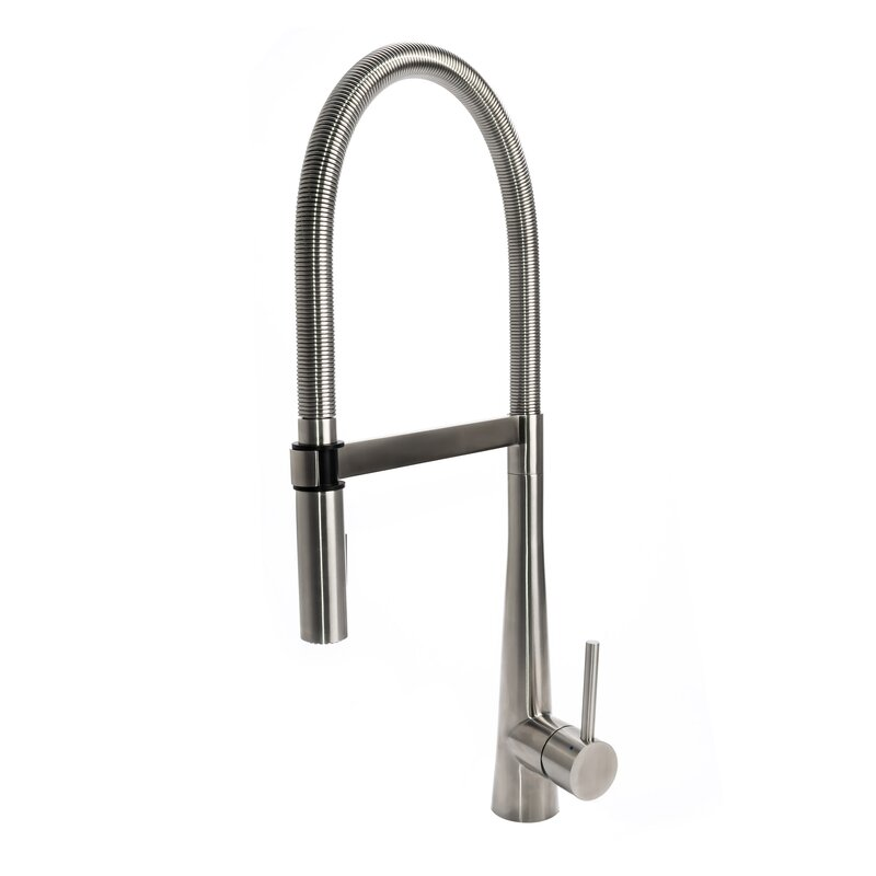 Luxury Gourmet Spring Coil Pull Down Single Handle Kitchen Faucet