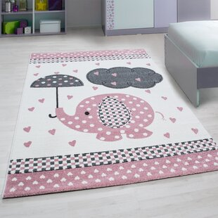 Orville Woven Pink Rug by Viv   Rae