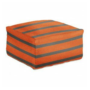 Latitude Run Ira Striped Pouf