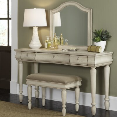 with com finish wood set queen vanity roundhill style dp furniture anne and mirror makeup bench cherry amazon