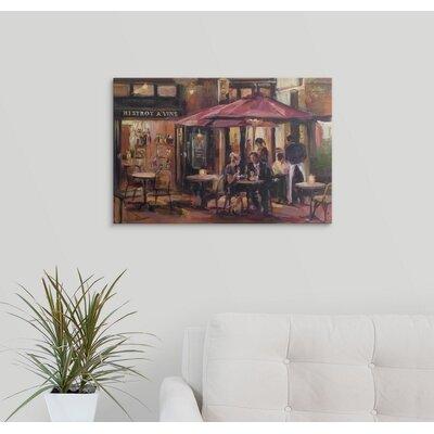 Bistrot a vins par marilyn hageman peinture impression sur toile enveloppé