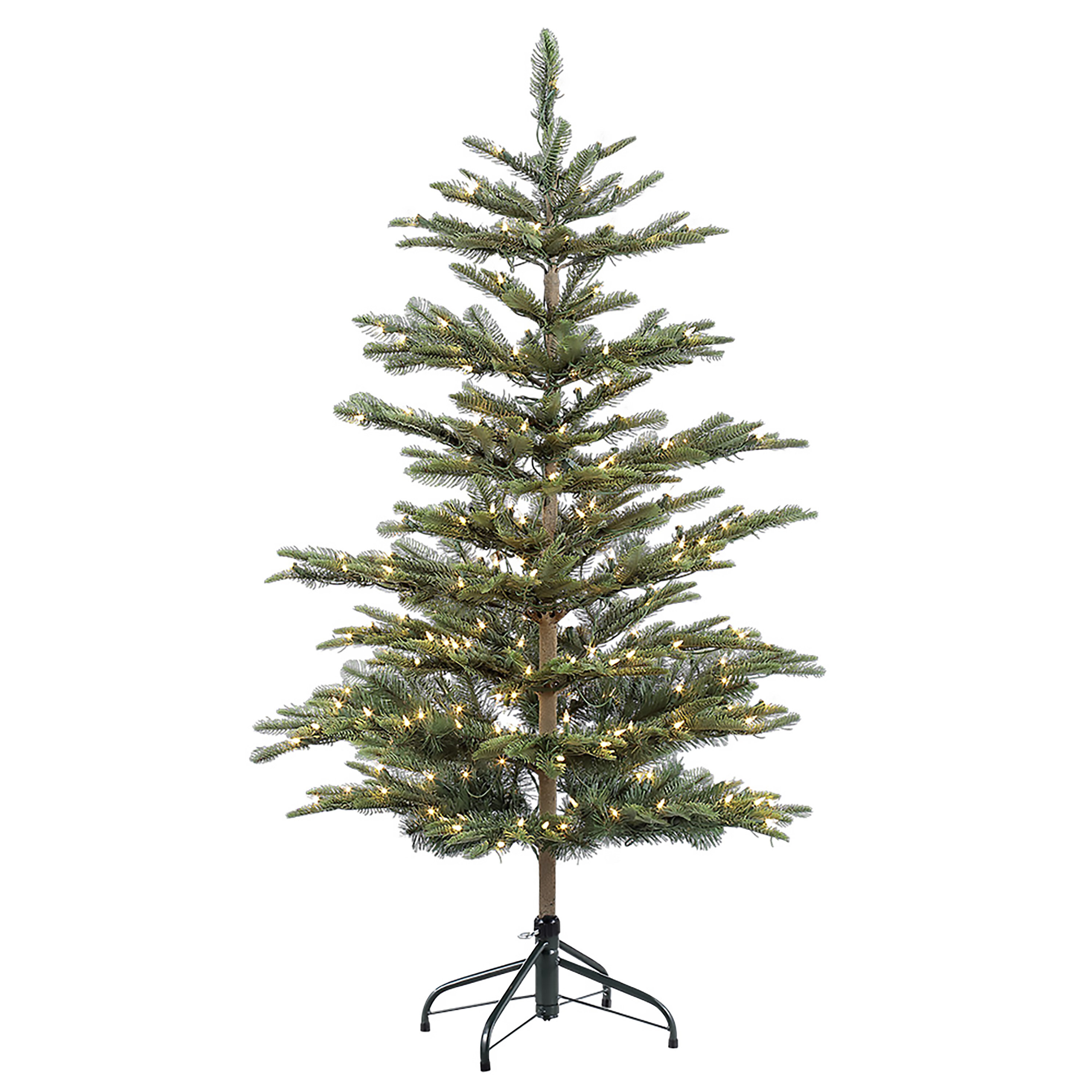Sparse Christmas Tree Artificial.Pre Lit Aspen 4 5 Green Fir Artificial Christmas Tree With 250 Clear Lights With Stand