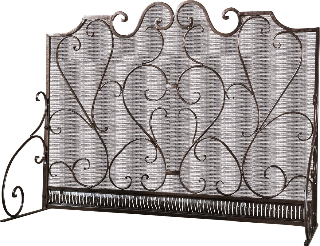 black iron fireplace screen. Visalia 3 Panel Iron Fireplace Screen Home Loft Concepts  Reviews