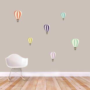 Colorful Hot Air Balloons Printed Wall Decal