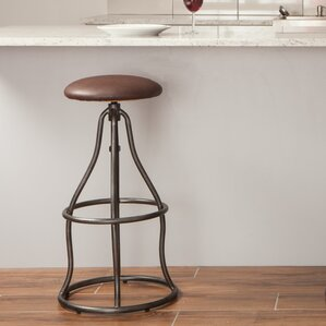 Carson Adjustable Height Bar Stool by World Interiors