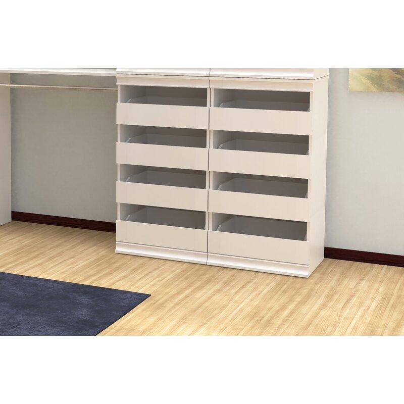 "Closet Drawer Units: ClosetMaid Modular Storage 21.38"" W Stackable 4-Drawer"